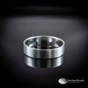 Zilveren ring, gematteerd, Handgemaakt, Handmade, Zilver, Sterling, 925