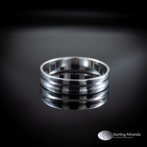 Half brede ring, Subtiel gevormd, lichtvanger, Zilver, Handgemaakt, Handmade, Sterling, 925