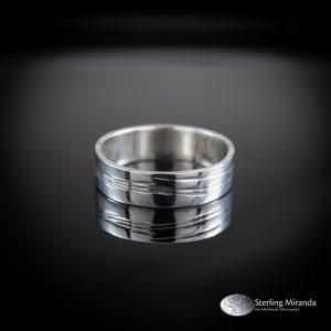 Zilveren ring, Gehamerd patroon, Handgemaakt, Handmade, Zilver, Sterling, 925