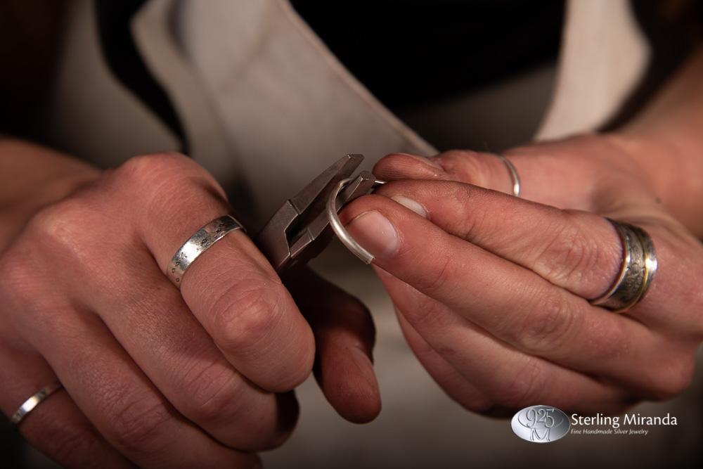 Edelsmid, Edelsmidaanhetwerk, Buigen, Ringopmaat, Zilverbuigen, Zilverenringbuigen, Zilverenring, Ring, Sterling, Zilver, 925