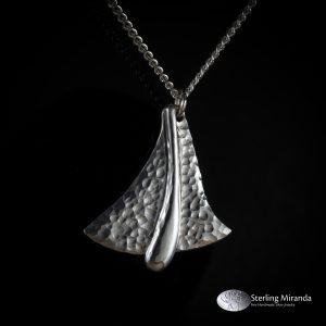 925, Handgemaakt, Handmade, Sterling, Zilver, Zilverenhanger, Gehamerd, Glanzendedruppel, Glanzendvlak, Druppel,