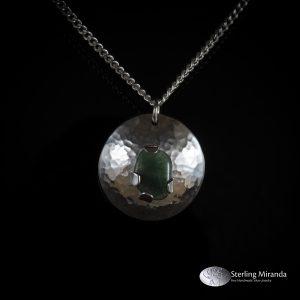 925, Zilver, Zilverenhanger, Sterling, Handgemaakt, Handmade, Steen, GroeneAventurijn, Aventurijn