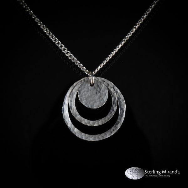 925, Handgemaakt, Handmade, Sterling, Zilver, Zilverenhanger, Gehamerd, Losseonderdelen, Bewegendeonderelen